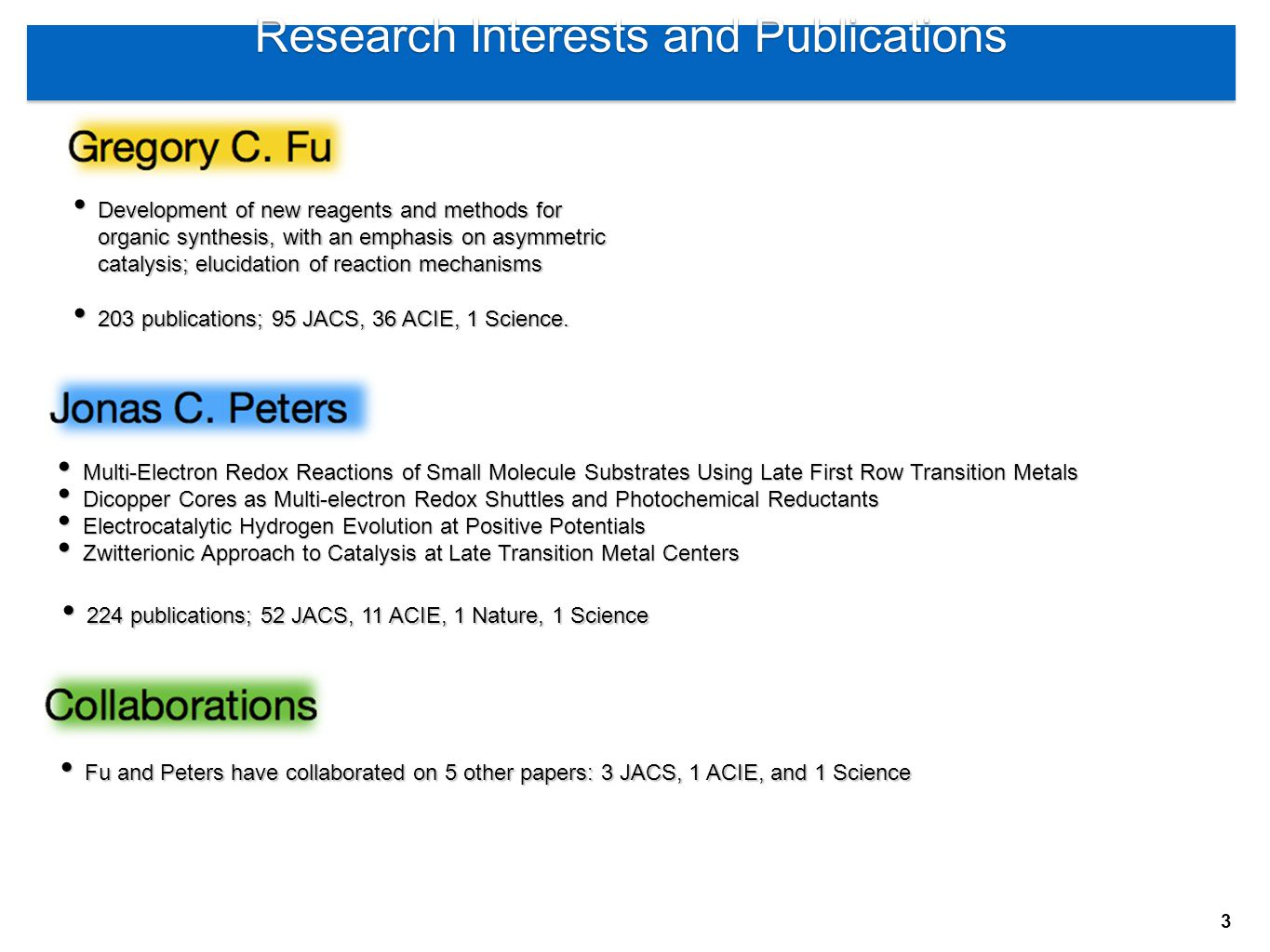 Research Interests and Publications