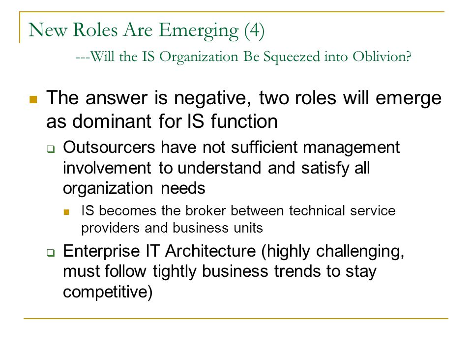 New Roles Are Emerging (4)