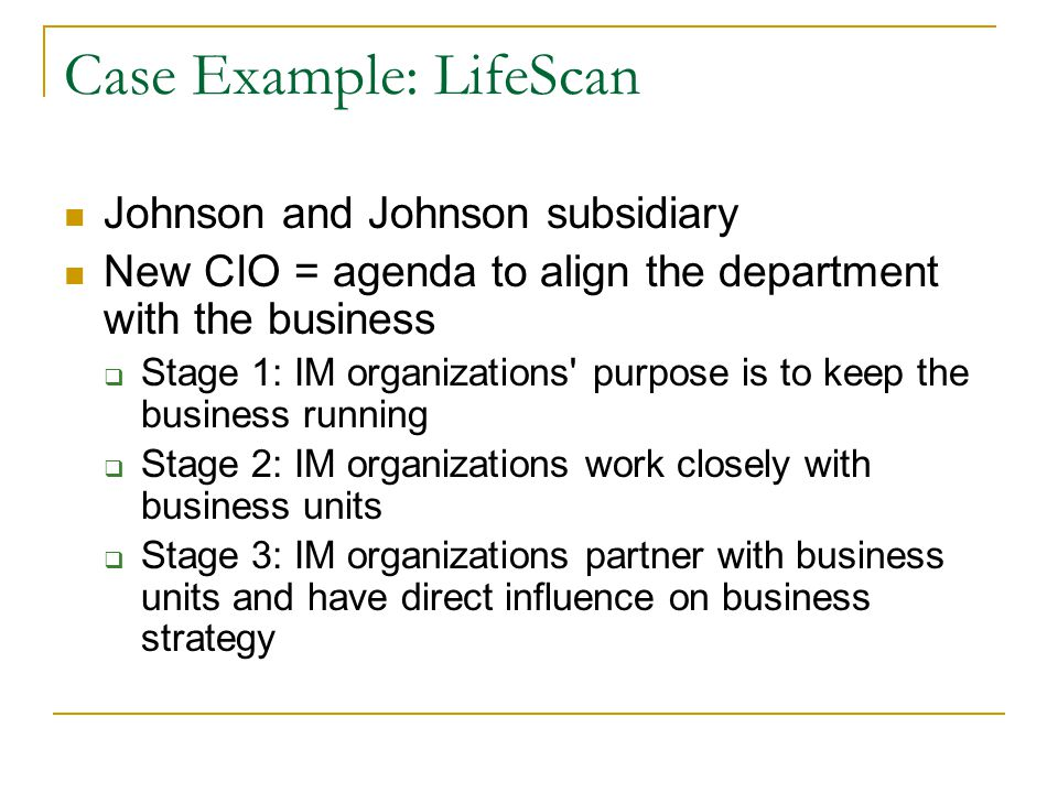 Johnson johnson strategic business unit