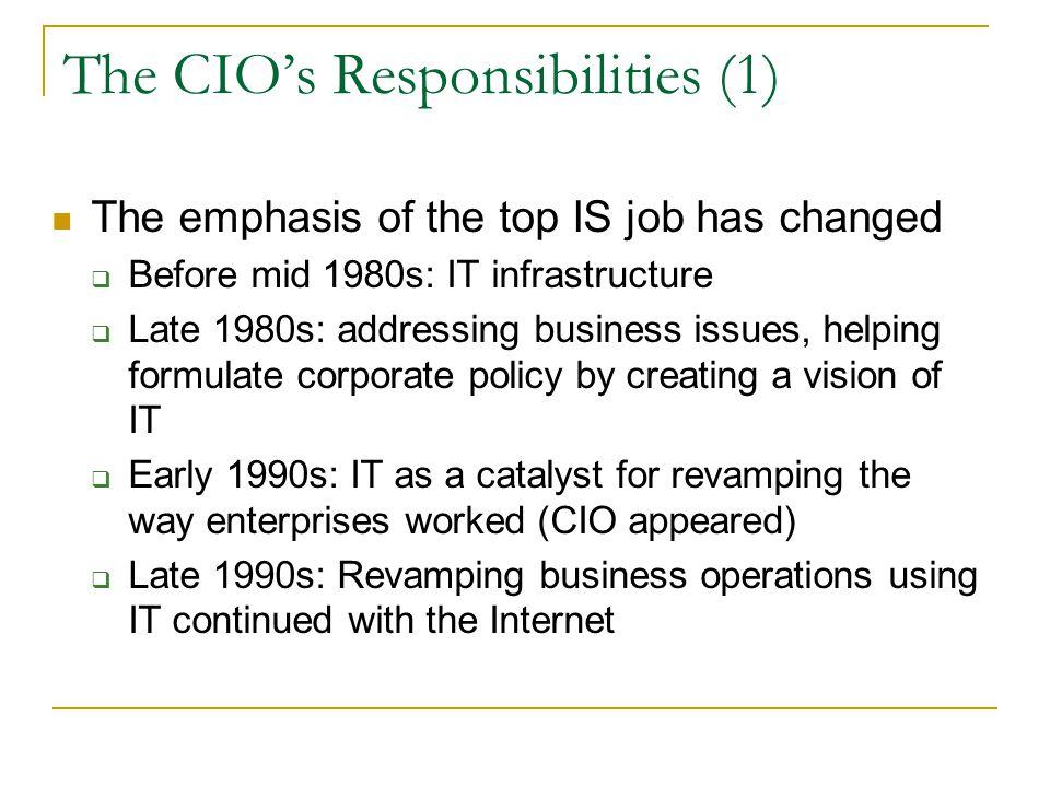 The CIO's Responsibilities (1)