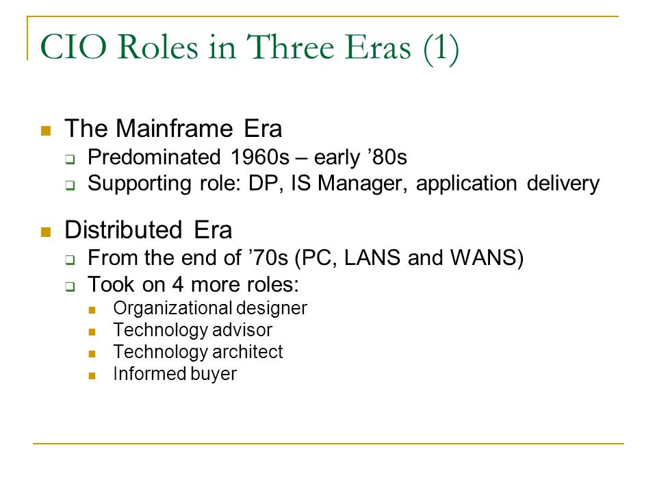 CIO Roles in Three Eras (1)