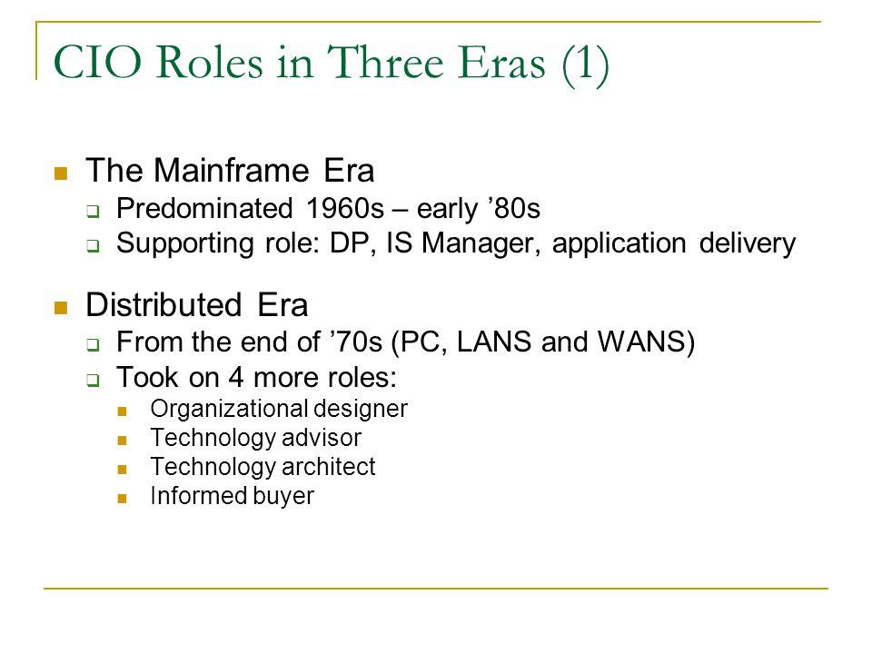 CIO Roles in Three Eras (1)