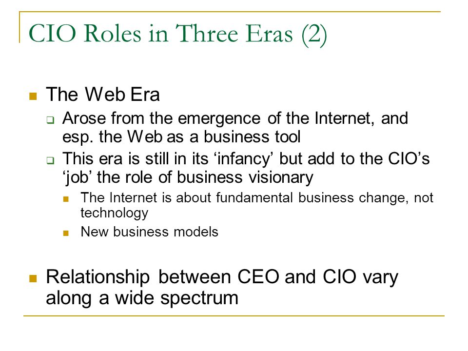 CIO Roles in Three Eras (2)