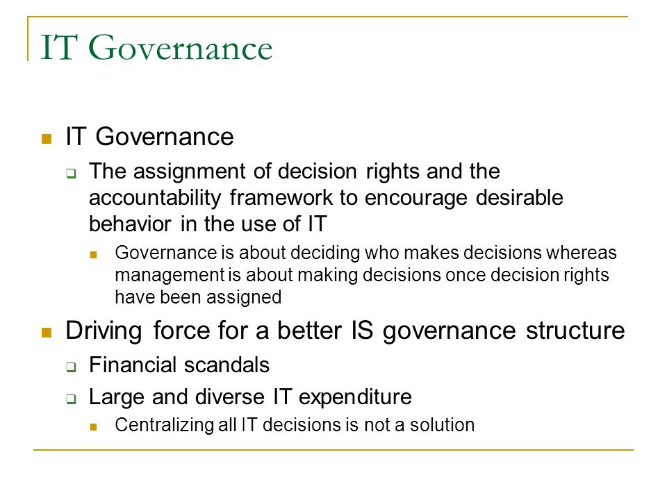 IT Governance IT Governance