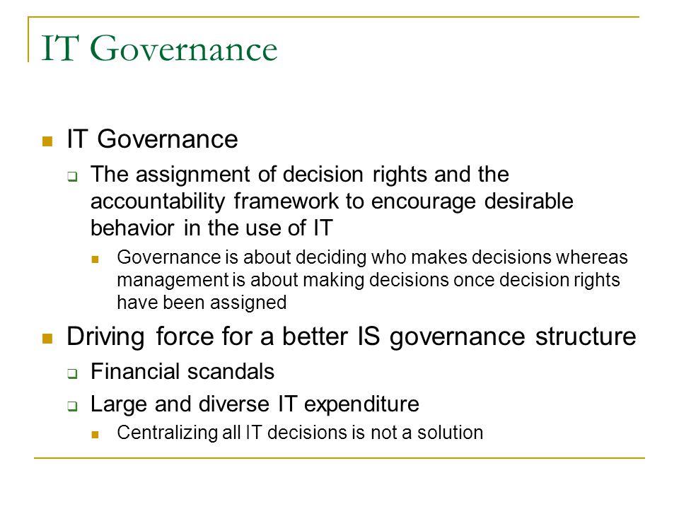 IT Governance IT Governance