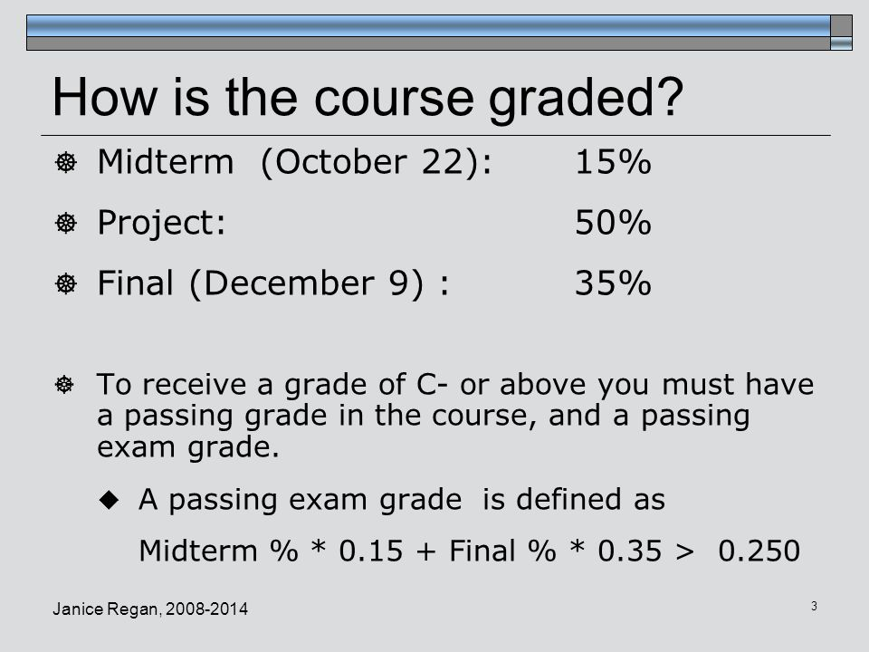 How is the course graded