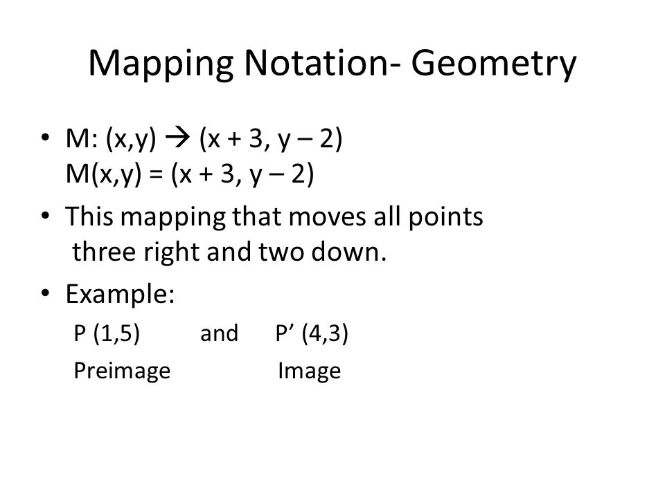 Mapping Notation- Geometry