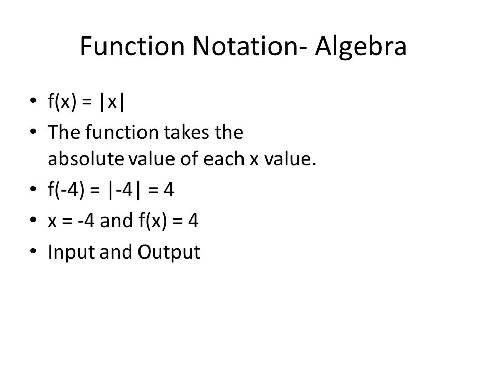 Function Notation- Algebra