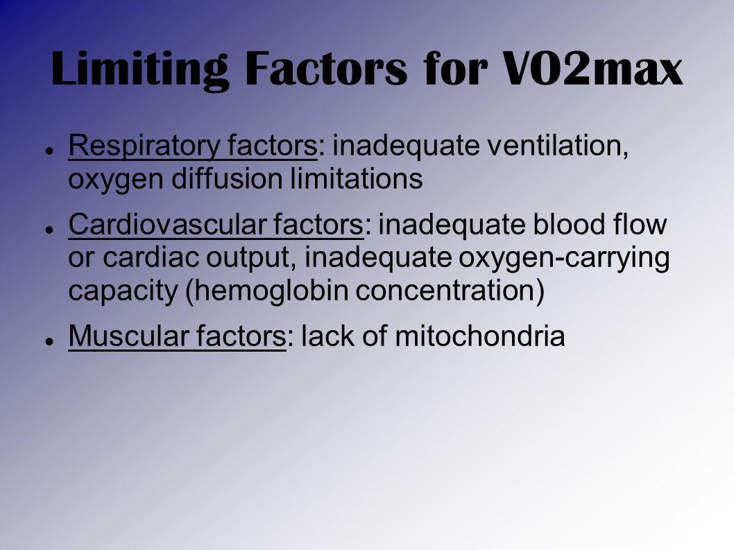 Limiting Factors for VO2max