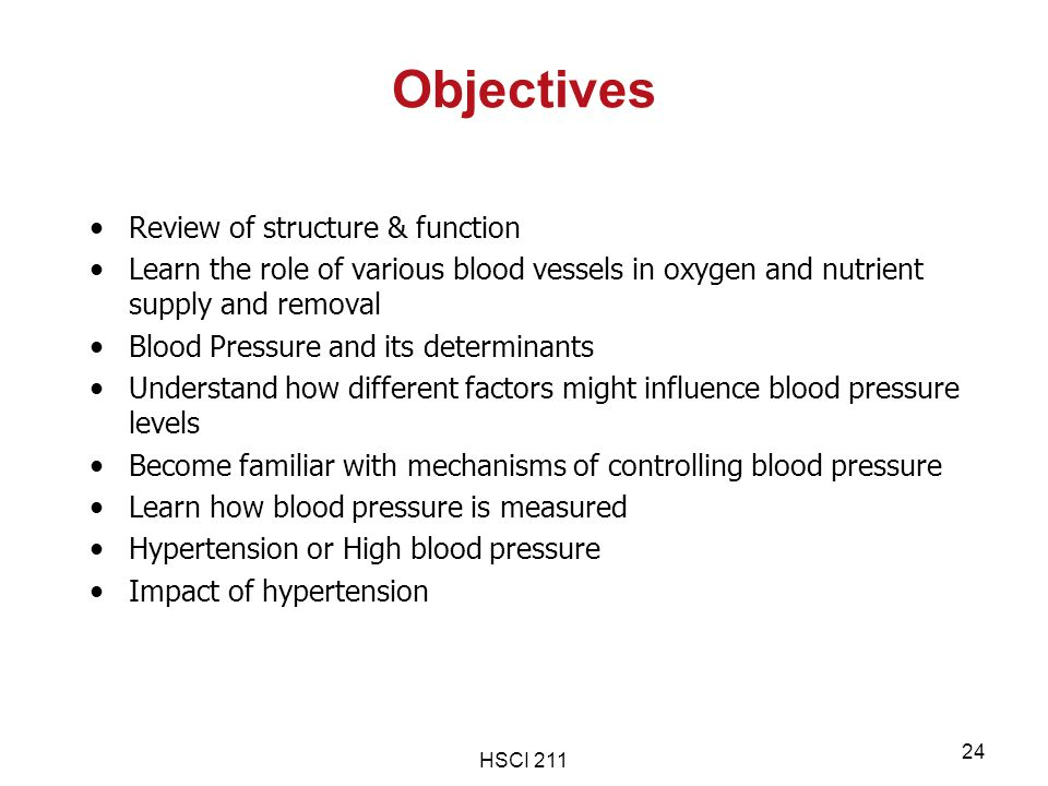 Objectives Review of structure & function