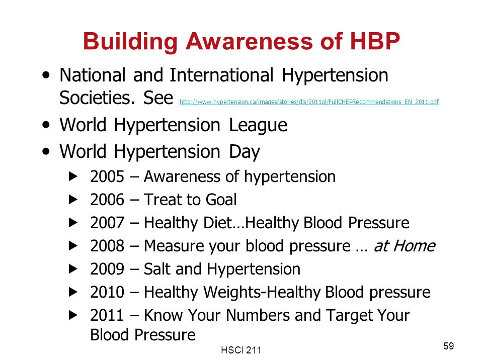 Building Awareness of HBP