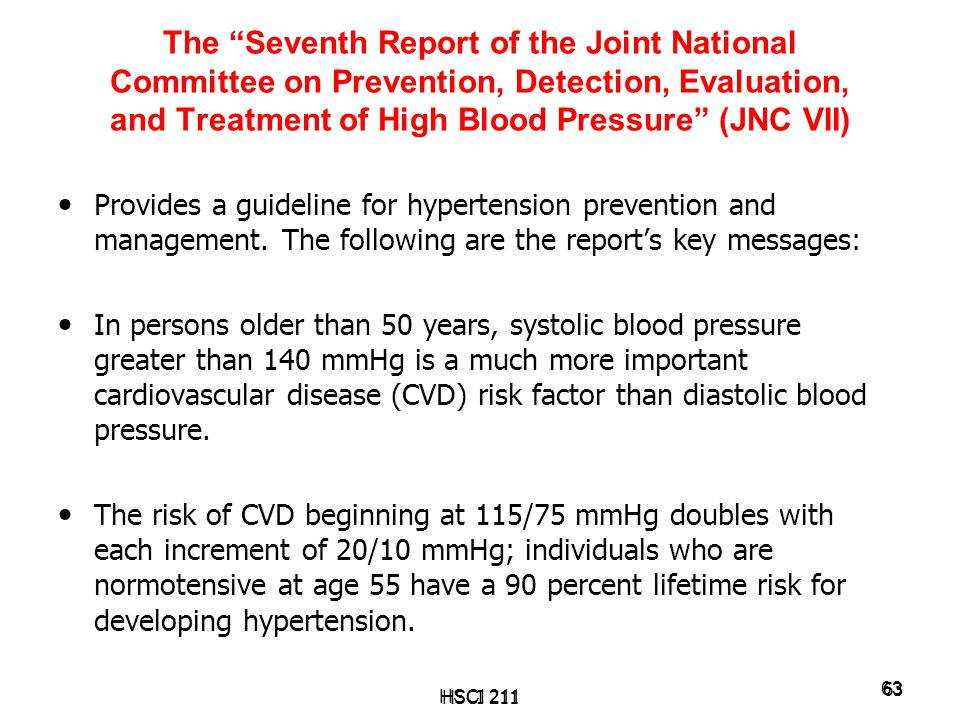 The Seventh Report of the Joint National Committee on Prevention, Detection, Evaluation, and Treatment of High Blood Pressure (JNC VII)