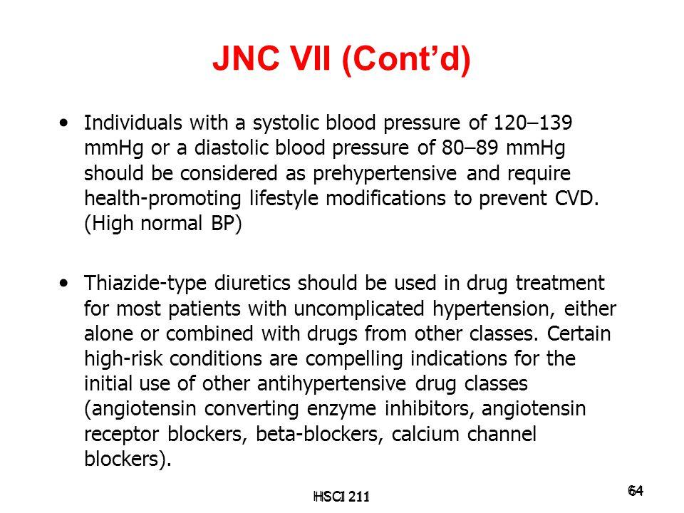 JNC VII (Cont'd)