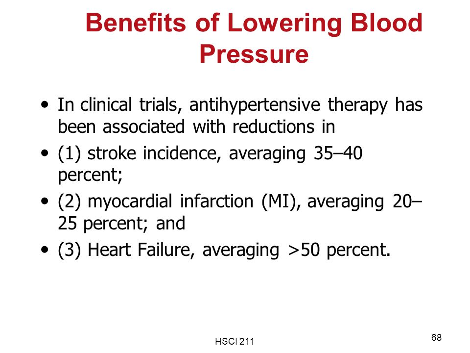 Benefits of Lowering Blood Pressure