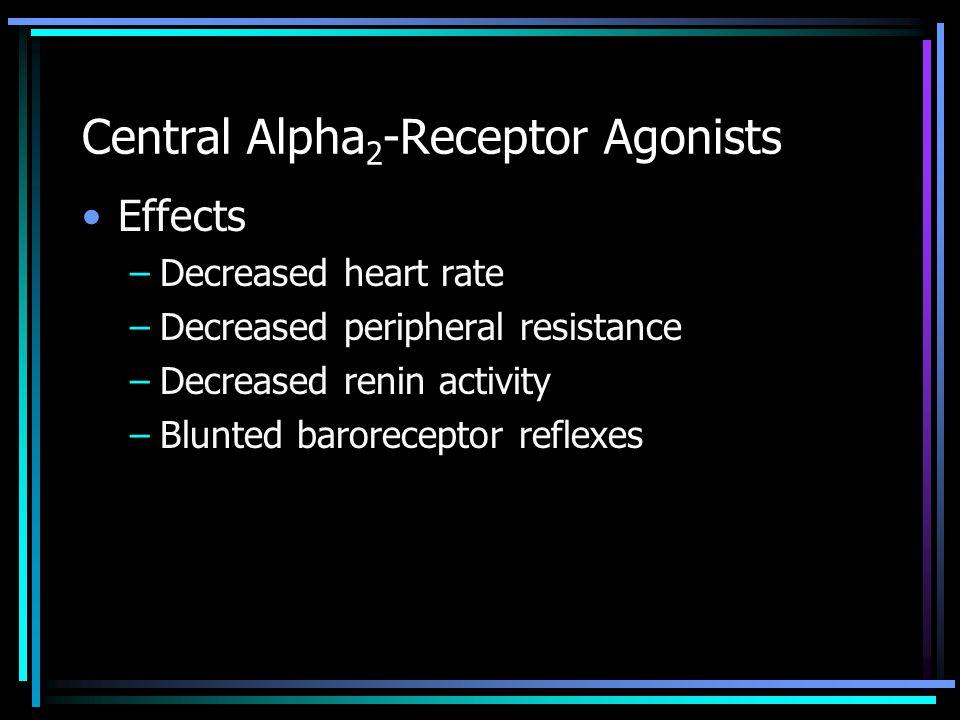 Central Alpha2-Receptor Agonists