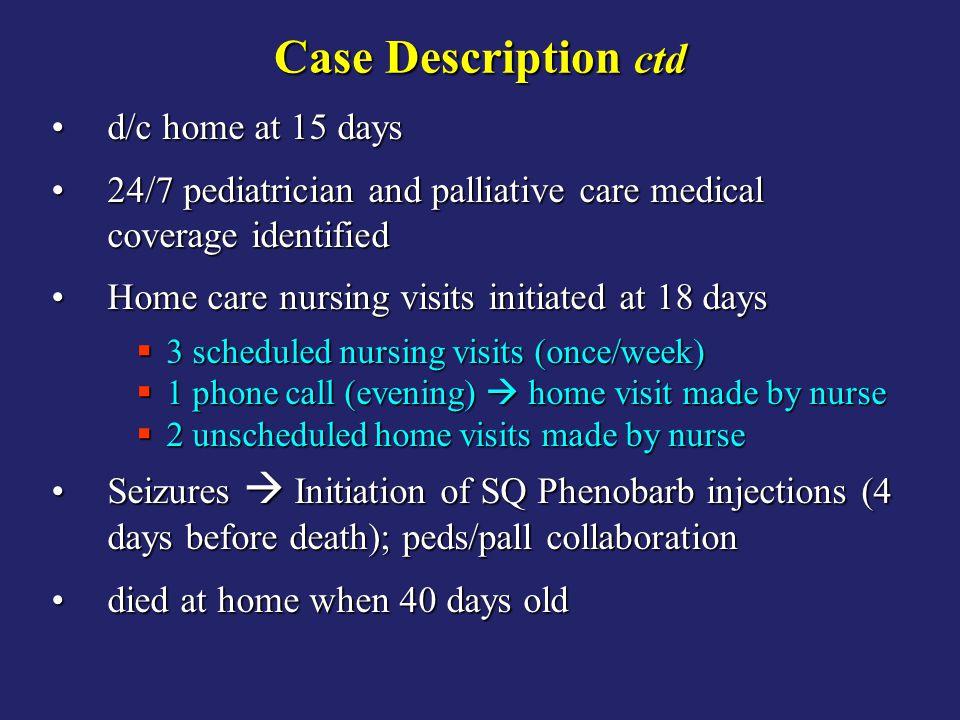 Case Description ctd d/c home at 15 days