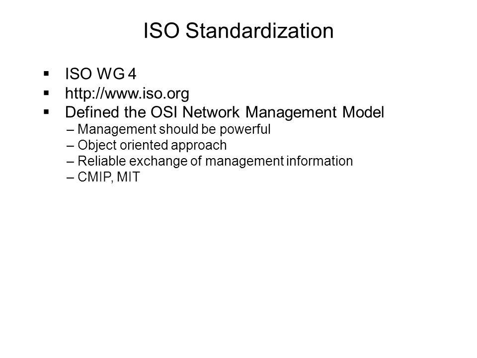 ISO Standardization ISO WG 4 http://www.iso.org