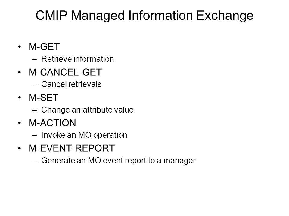 CMIP Managed Information Exchange