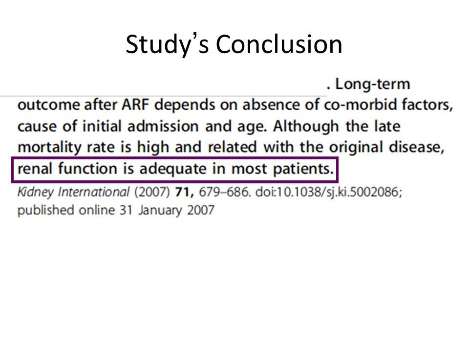 Study's Conclusion