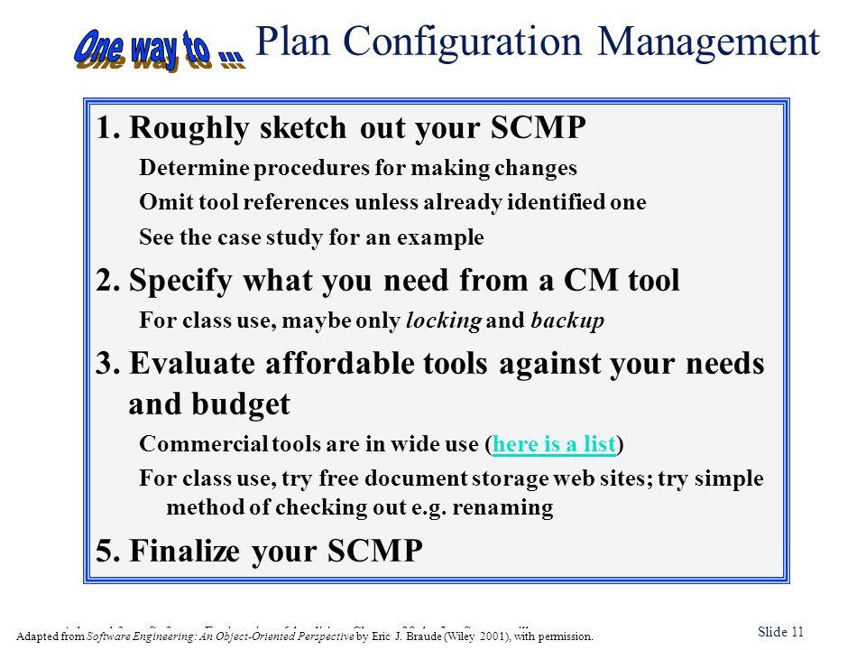 Plan Configuration Management