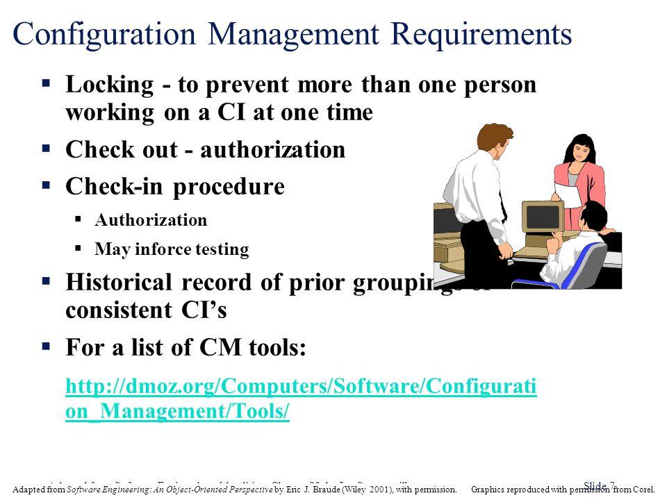 Configuration Management Requirements
