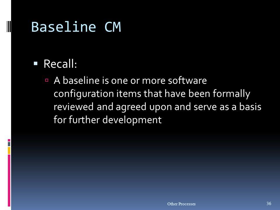 Baseline CM Recall: