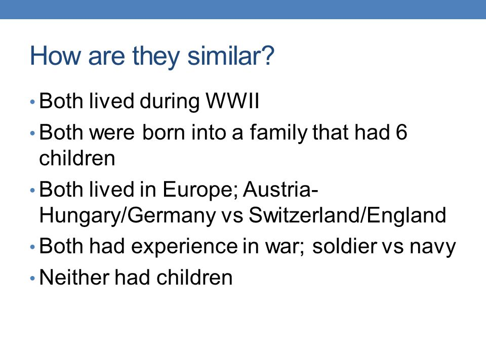 How are they similar Both lived during WWII