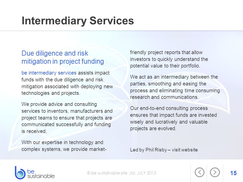 Intermediary Services