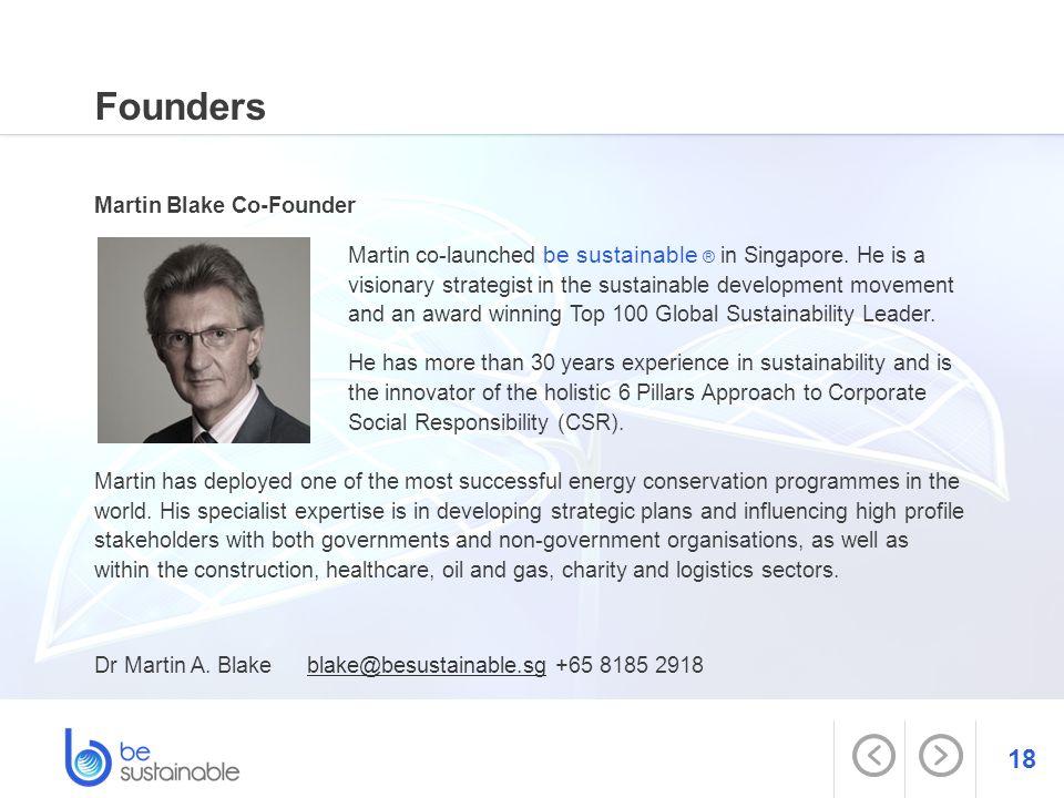 Founders Martin Blake Co-Founder