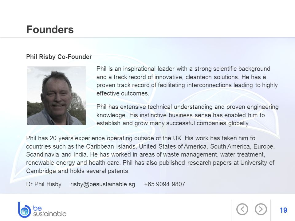 Founders Phil Risby Co-Founder