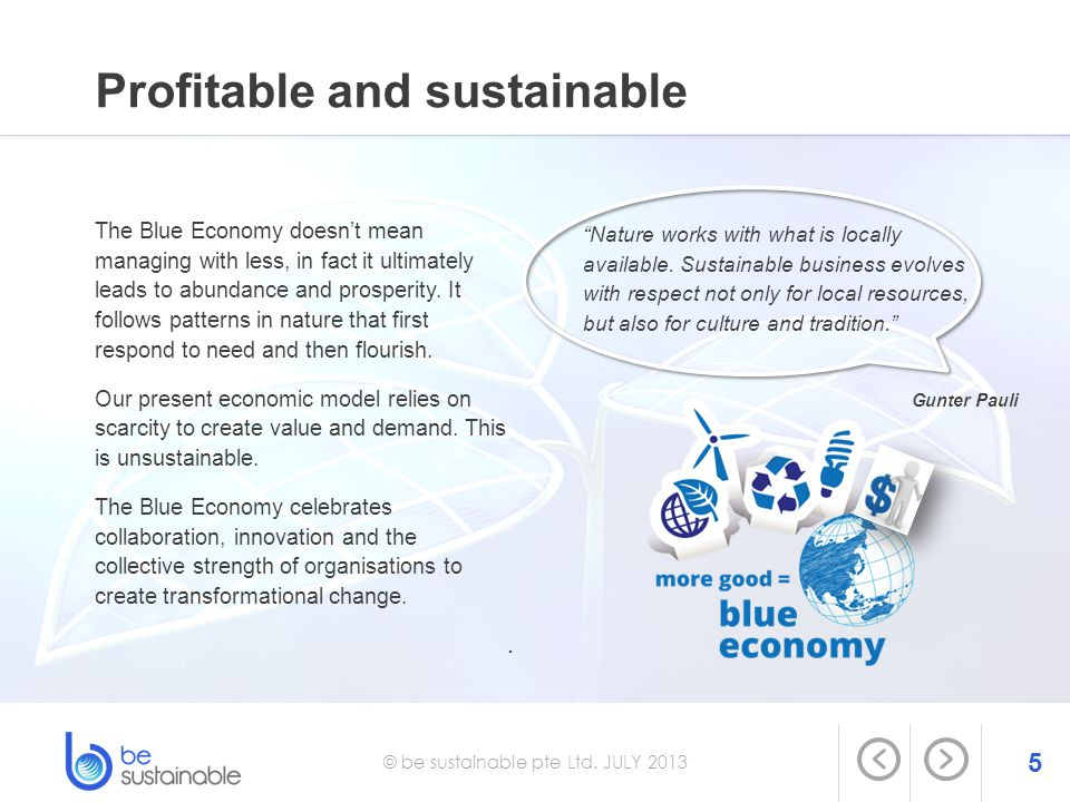 Profitable and sustainable