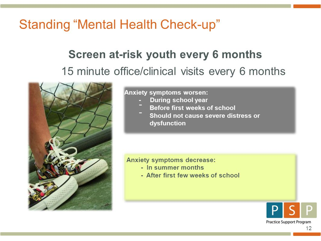 Standing Mental Health Check-up