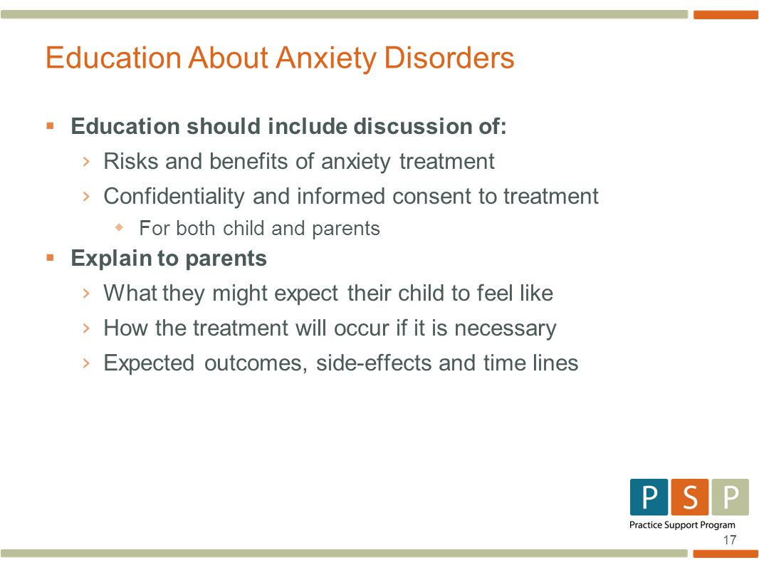 Education About Anxiety Disorders