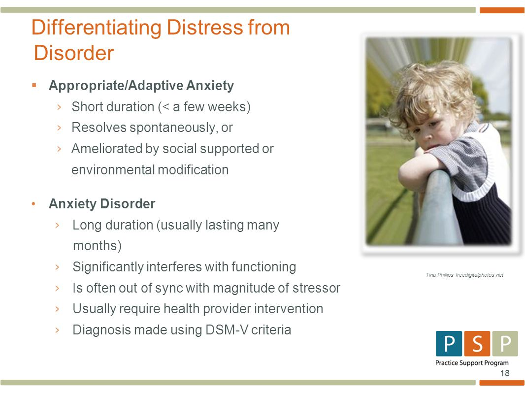 Differentiating Distress from Disorder