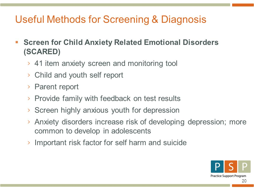 Useful Methods for Screening & Diagnosis