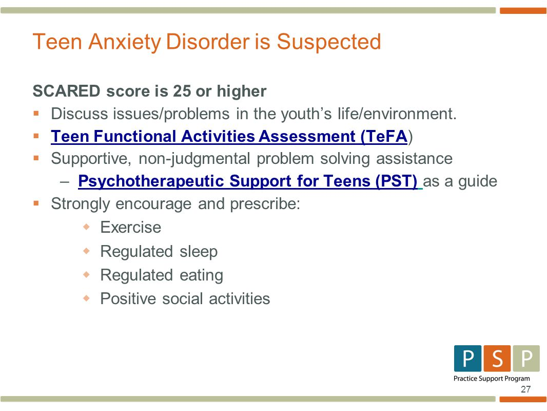 Teen Anxiety Disorder is Suspected