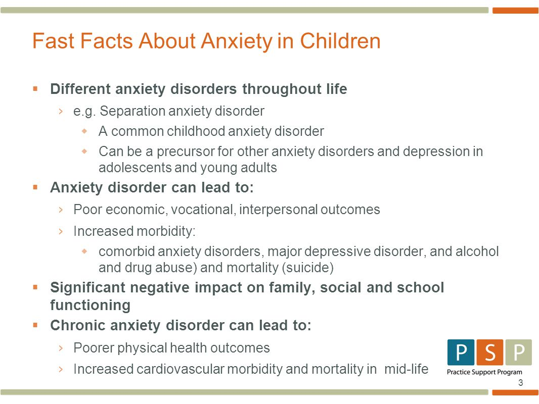 Fast Facts About Anxiety in Children