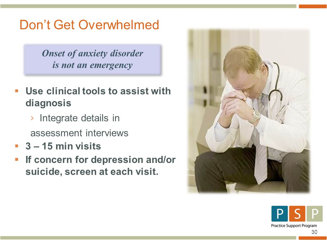 Onset of anxiety disorder
