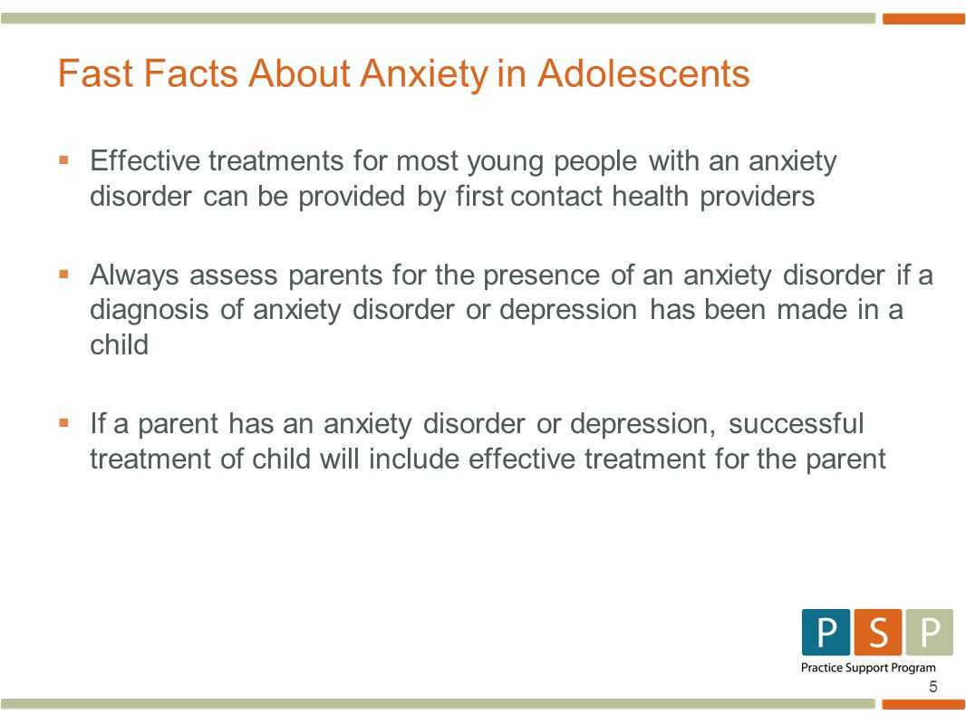 Fast Facts About Anxiety in Adolescents