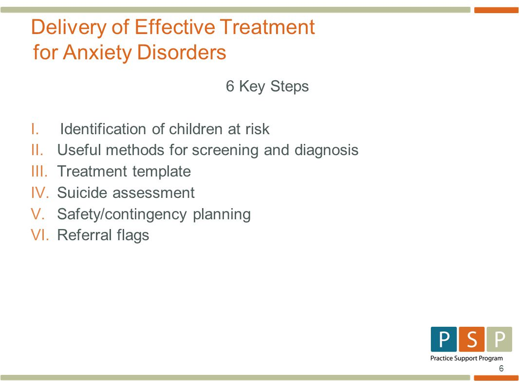 Delivery of Effective Treatment for Anxiety Disorders