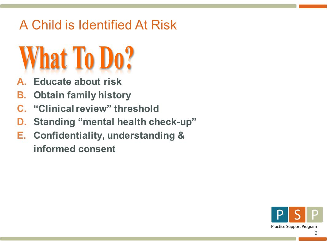 A Child is Identified At Risk
