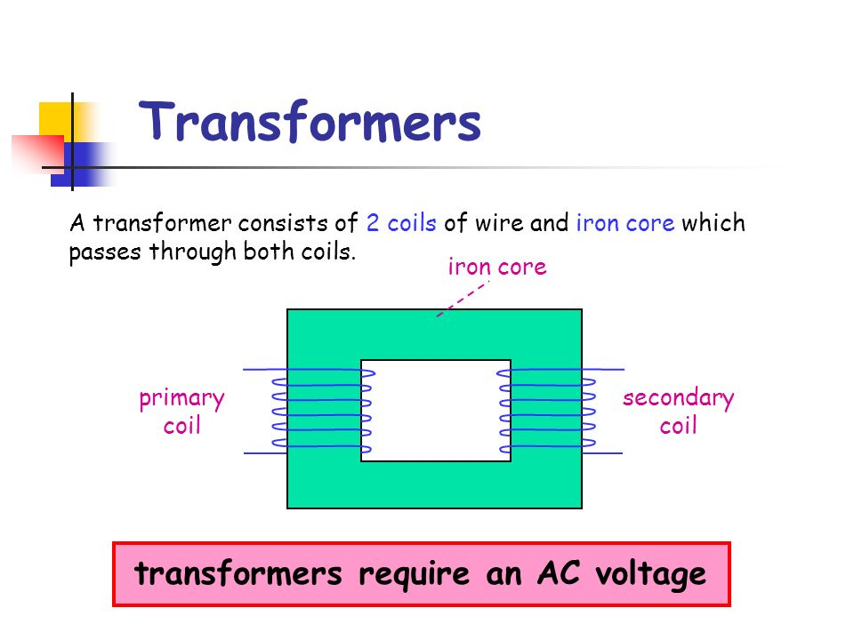 transformers require an AC voltage