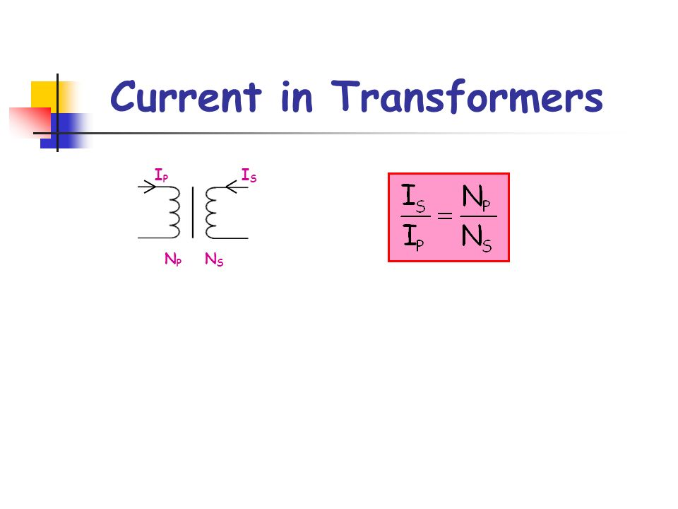 Current in Transformers