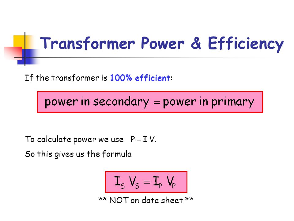 Transformer Power & Efficiency