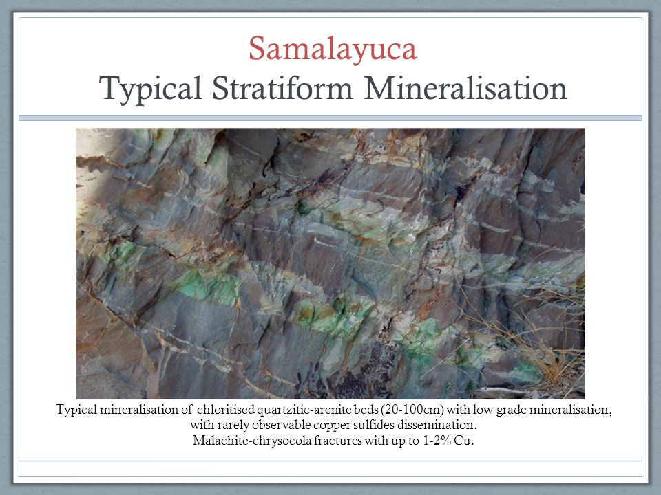Typical Stratiform Mineralisation