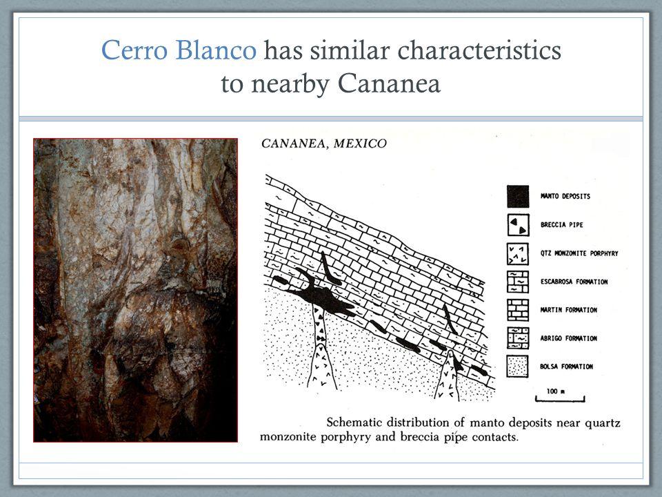 Cerro Blanco has similar characteristics