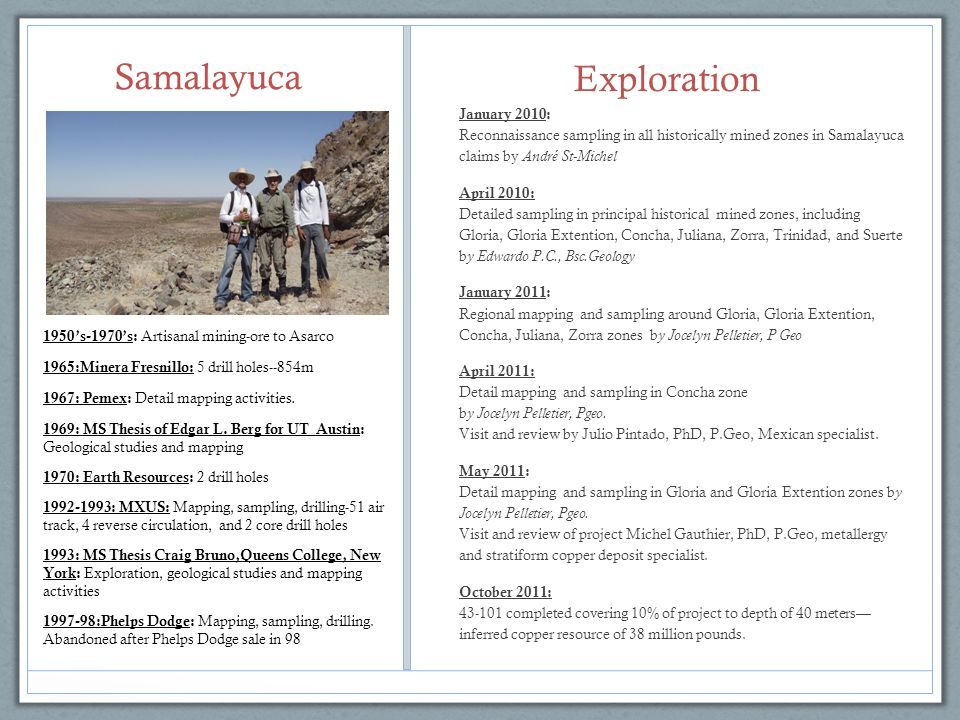 Samalayuca Exploration January 2010: