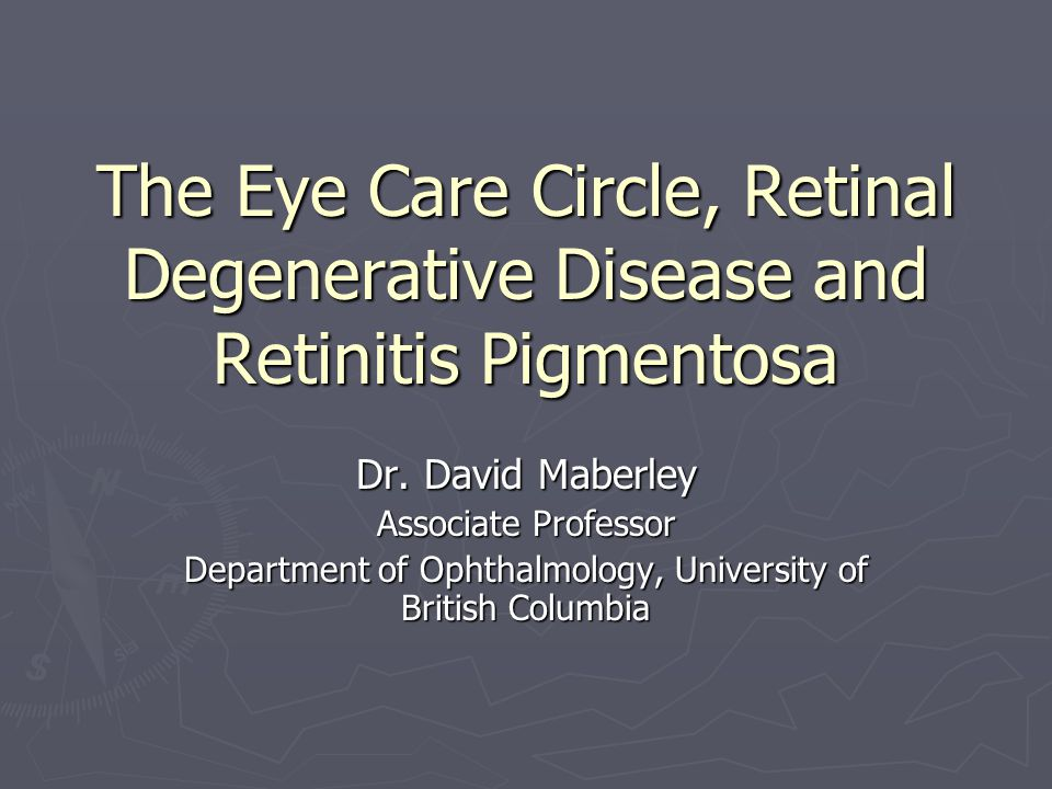 Department of Ophthalmology, University of British Columbia
