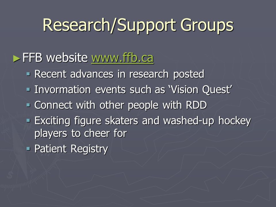 Research/Support Groups