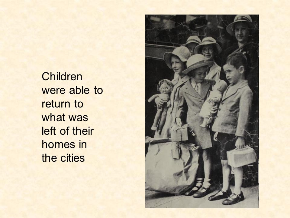 Children were able to return to what was left of their homes in the cities